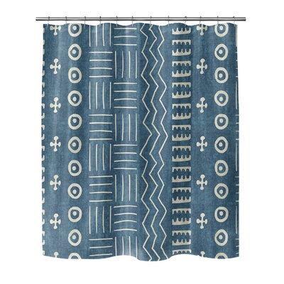 Couturier Shower Curtain Color: Teal, Size: 72 H x 70 W x 0.1 D