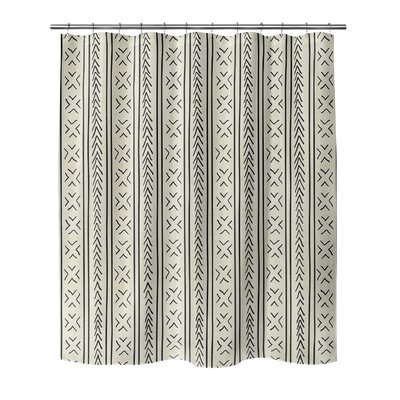 Couturier Geometric Shower Curtain Color: Ivory, Size: 90 H x 70 W x 0.1 D
