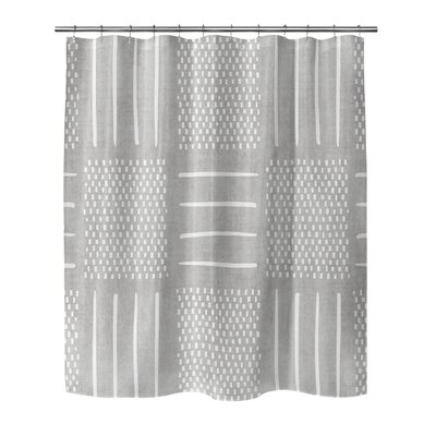 Couturier Geometric Shower Curtain Color: Grey, Size: 90 H x 70 W x 0.1 D