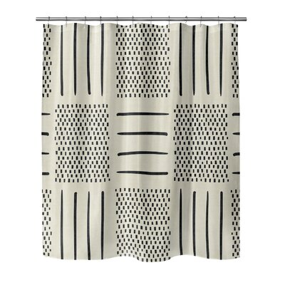 Couturier Geometric Shower Curtain Color: Ivory, Size: 72 H x 70 W x 0.1 D