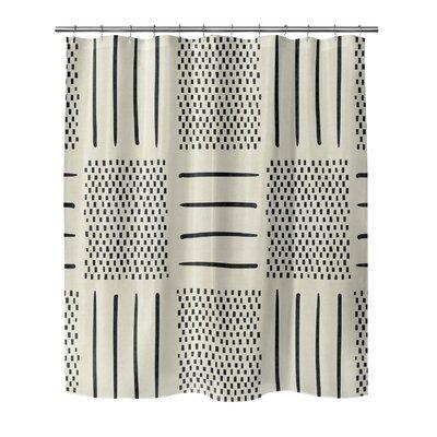 Couturier Geometric Shower Curtain Color: Ivory, Size: 90 H x 70 W x 0.1 D