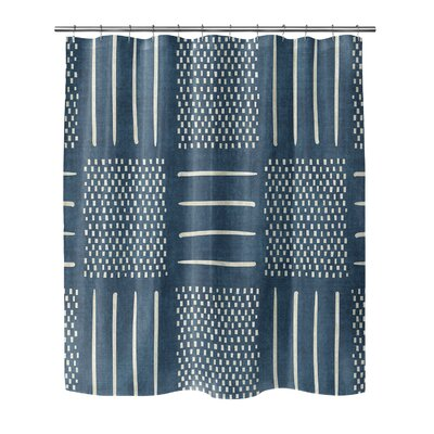 Couturier Geometric Shower Curtain Color: Teal, Size: 72 H x 70 W x 0.1 D