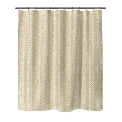 Couturier Shower Curtain Color: Cream, Size: 90 H x 70 W x 0.1 D