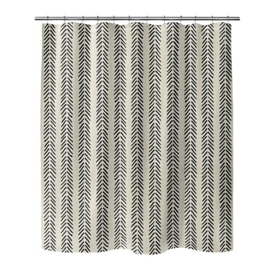 Couturier Shower Curtain Color: Ivory, Size: 72 H x 70 W x 0.1 D