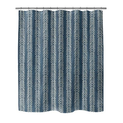 Couturier Shower Curtain Color: Teal, Size: 90 H x 70 W x 0.1 D