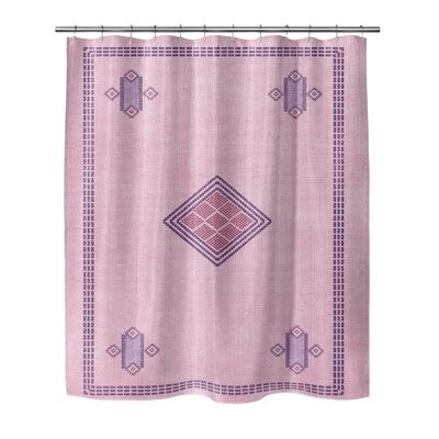 Polyester Shower Curtain Size: 90 H x 70 W, Color: Blue/Red