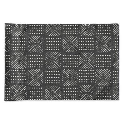 Albina Pillow Case Size: 20 H x 30 W x 0.25 D, Color: Black