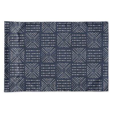 Albina Pillow Case Size: 20 H x 30 W x 0.25 D, Color: Navy