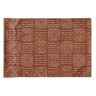 Albina Pillow Case Size: 20 H x 30 W x 0.25 D, Color: Rust