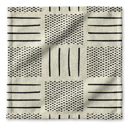 Dalton Symmetry Cloth Washcloth with Single Sided Print Color: Ivory