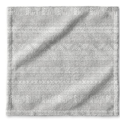 Dalton Cloth Washcloth with Single Sided Print Color: Grey