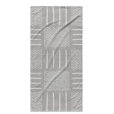 Dalton Symmetry Geometric Cloth Bath Towel Color: Grey