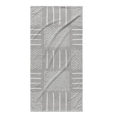 Dalton Symmetry Geometric Cloth Bath Towel Color: Grey