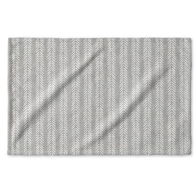 Dalton Symmetry Cloth Hand Towel with Single Sided Print Color: Grey