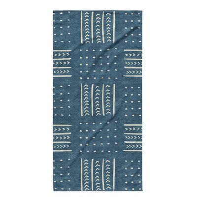 Dalton Symmetry Geometric Cloth Bath Towel with Single Sided Print Color: Teal