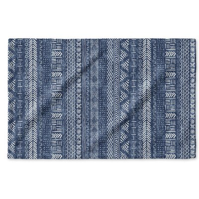 Dalton Symmetry Geometric Cloth Hand Towel Color: Indigo