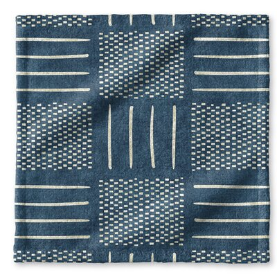 Dalton Symmetry Cloth Washcloth with Single Sided Print Color: Teal