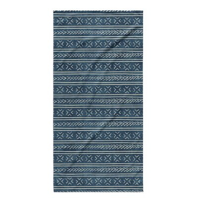 Dalton Cloth Bath Towel with Single Sided Print Color: Teal
