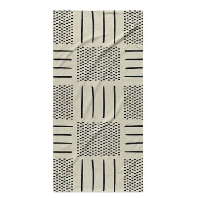 Dalton Symmetry Geometric Cloth Bath Towel	 Color: Ivory