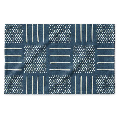 Dalton Symmetry Cloth Hand Towel Color: Teal