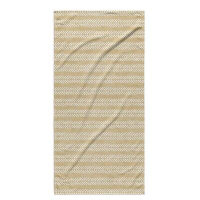 Dalton Geometric Cloth Bath Towel with Single Sided Print Color: Cream