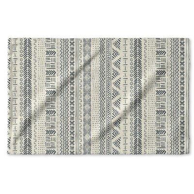 Dalton Symmetry Geometric Cloth Hand Towel Color: Ivory