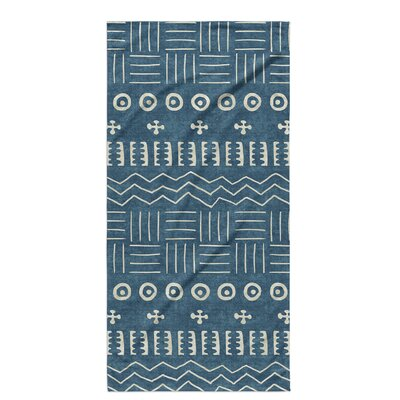 Dalton Symmetry Cloth Bath Towel with Single Sided Print Color: Teal