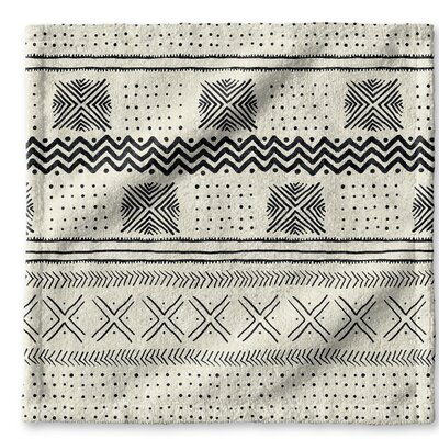 Dalton Symmetry Geometric Cloth Washcloth Color: Ivory