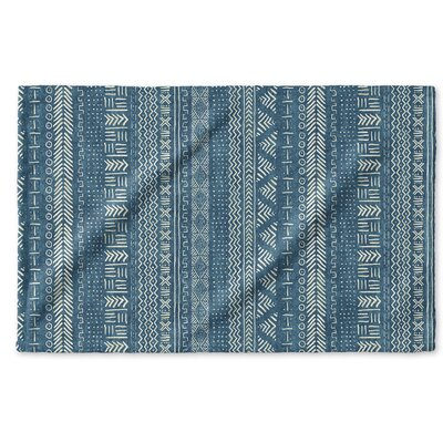 Dalton Symmetry Geometric Cloth Hand Towel Color: Teal
