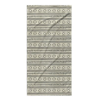 Dalton Cloth Bath Towel with Single Sided Print Color: Ivory