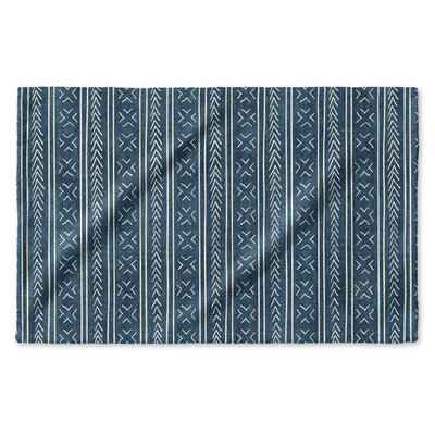 Dalton Geometric Cloth Hand Towel with Single Sided Print Color: Teal