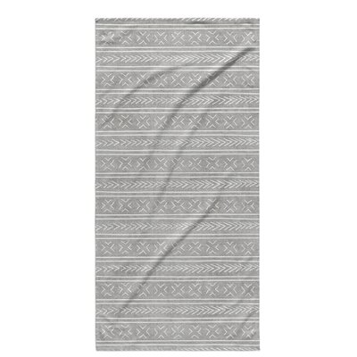 Dalton Cloth Bath Towel with Single Sided Print Color: Grey