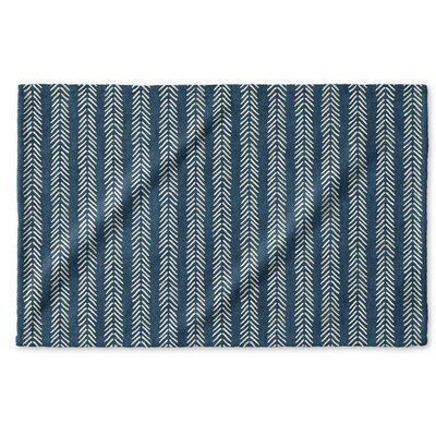 Dalton Symmetry Cloth Hand Towel with Single Sided Print Color: Teal
