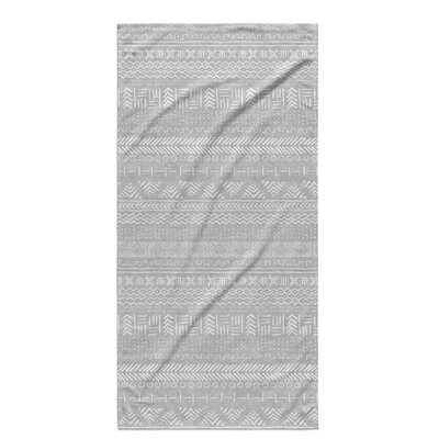 Dalton Geometric Cloth Bath Towel Color: Grey