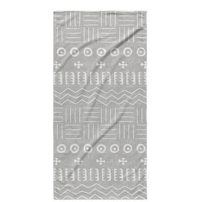 Dalton Symmetry Cloth Bath Towel with Single Sided Print Color: Grey