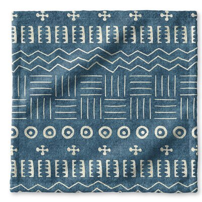 Dalton Symmetry Geometric Cloth Washcloth with Single Sided Print Color: Teal