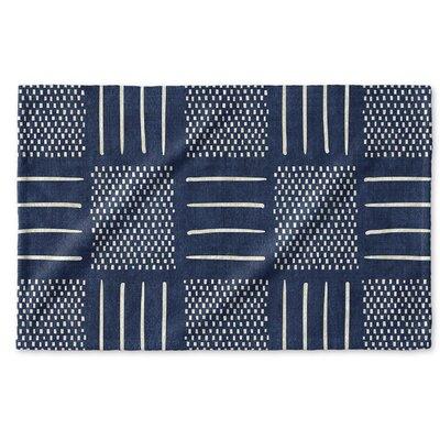 Dalton Symmetry Cloth Hand Towel Color: Indigo