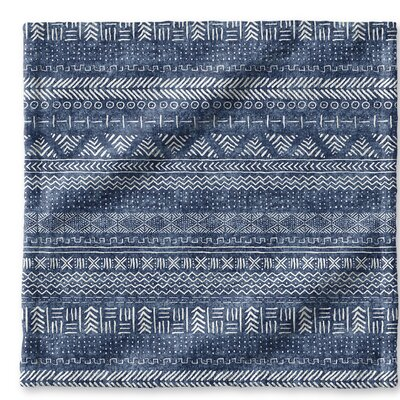 Dalton Cloth Washcloth with Single Sided Print Color: Indigo
