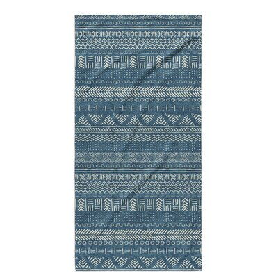 Dalton Geometric Cloth Bath Towel Color: Teal