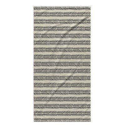 Dalton Geometric Cloth Bath Towel with Single Sided Print Color: Ivory