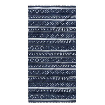 Dalton Cloth Bath Towel with Single Sided Print Color: Indigo