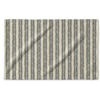 Dalton Symmetry Cloth Hand Towel with Single Sided Print Color: Ivory