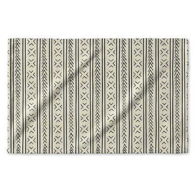 Dalton Geometric Cloth Hand Towel with Single Sided Print Color: Ivory