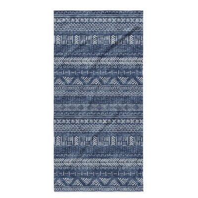 Dalton Geometric Cloth Bath Towel Color: Indigo
