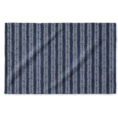 Dalton Symmetry Cloth Hand Towel with Single Sided Print Color: Indigo