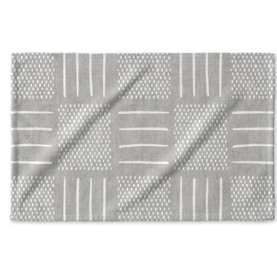 Dalton Symmetry Cloth Hand Towel Color: Grey