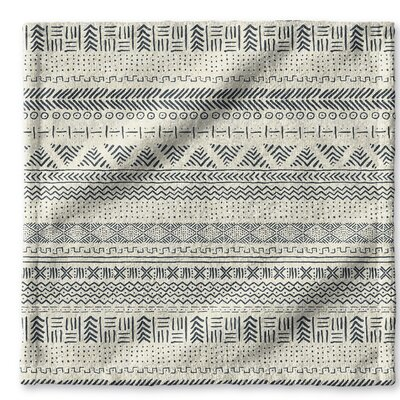 Dalton Cloth Washcloth with Single Sided Print Color: Ivory