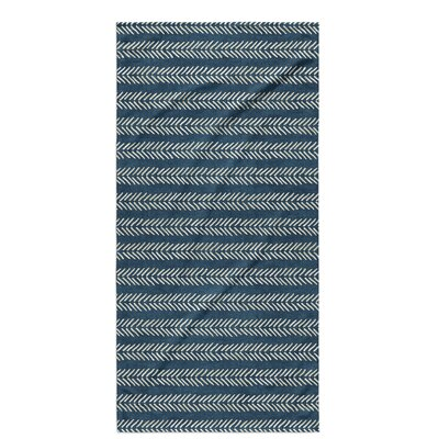 Dalton Geometric Cloth Bath Towel with Single Sided Print Color: Teal