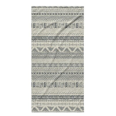 Dalton Geometric Cloth Bath Towel Color: Ivory