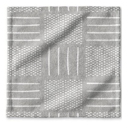 Dalton Symmetry Cloth Washcloth with Single Sided Print Color: Grey